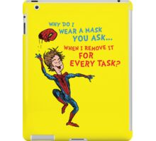 Why Do I Wear A Mask, You Ask? iPad Case/Skin