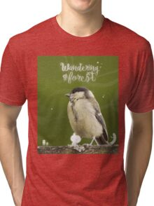 Wandering forest cover Tri-blend T-Shirt
