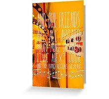Yellow Submarine - The Beatles - Lyric Poster Greeting Card