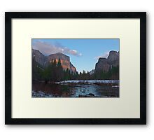 From Valley View At Sunset Framed Print