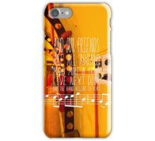 Yellow Submarine - The Beatles - Lyric Poster iPhone Case/Skin