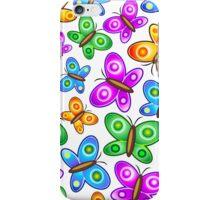 Butterflies Colorful Pop Art Pattern iPhone Case/Skin