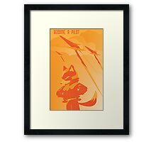 Become a Arwing pilot Framed Print