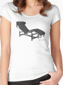 Le Corbusier Chaise-Longue Women's Fitted Scoop T-Shirt