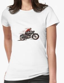 VINTAGE MOTORCYCLE ART Womens Fitted T-Shirt