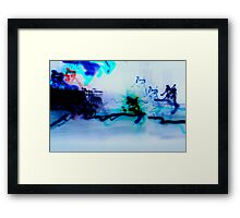 Chaos lights photography inverted Framed Print