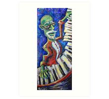 The Acid Jazz Jam - Piano Art Print