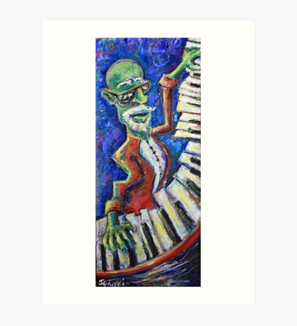 The Acid Jazz Jam - Piano Art Print