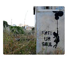 Free your soul - Banksy? Photographic Print