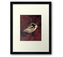 VINTAGE MOTORCYCLE ADVERTISING ART. Framed Print
