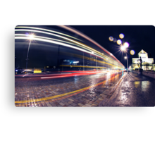 Night Traffic Lights Canvas Print