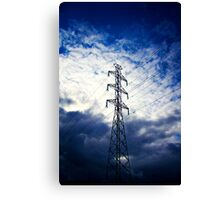 Dramatic Electric Pole Canvas Print