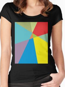 Graphic T, Colorfull T Women's Fitted Scoop T-Shirt