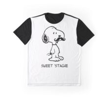 Mustache Snoopy Graphic T-Shirt