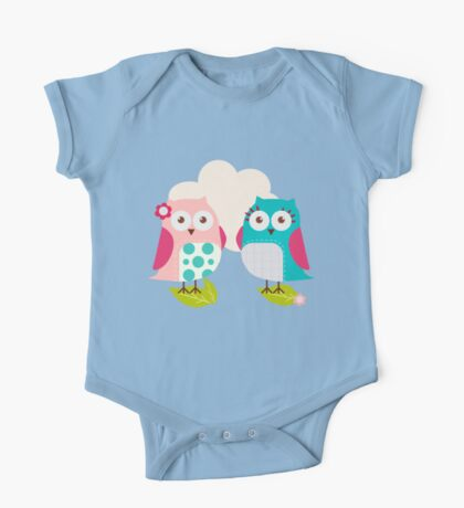 Everybody Loves Owls One Piece - Short Sleeve