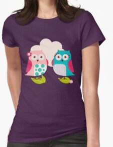Everybody Loves Owls Womens Fitted T-Shirt