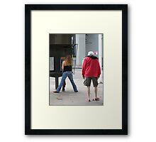 Study of Legs in White and Blue Framed Print