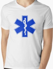 EMT / Star of Life Mens V-Neck T-Shirt
