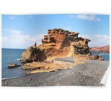 Clicos Lake in Lanzarote Poster