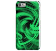 Swirl (Green) iPhone Case/Skin