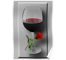 Ƹ̴Ӂ̴Ʒ WINE GLASS WITH ROSE Ƹ̴Ӂ̴Ʒ Poster