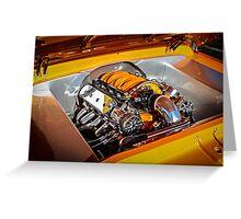 Orange Motor Greeting Card