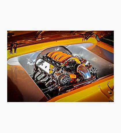 Orange Motor Photographic Print