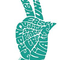 Life Force Hand in Turquoise by aygeartist