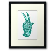 Life Force Hand in Turquoise Framed Print