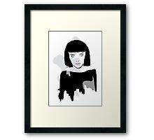 Black Bob Framed Print