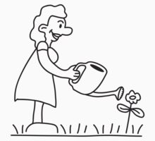 Flower Watering Woman by Style-O-Mat