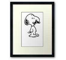 'Stache Snoopy Framed Print