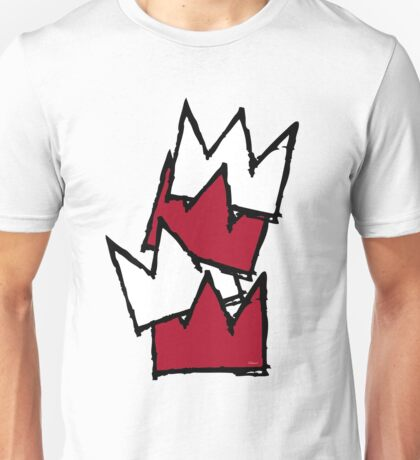 Stacked Crowns - Red Unisex T-Shirt