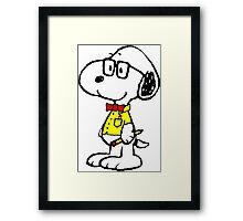 Nerd Snoopy Framed Print