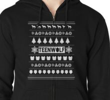 Teen wolf - Christmas edition/RED Zipped Hoodie