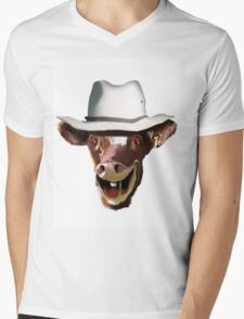 COW BLOKE Mens V-Neck T-Shirt