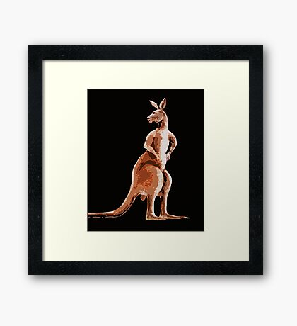 BIG RED Framed Print