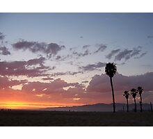 sunset beach Photographic Print