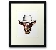 COW BLOKE Framed Print