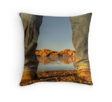 Sunset Showdown Throw Pillow