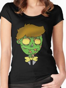 Bow-tie Zombie Women's Fitted Scoop T-Shirt