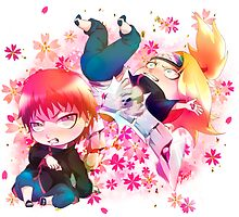 Chibi Sasori and Deidara by Kaoyux