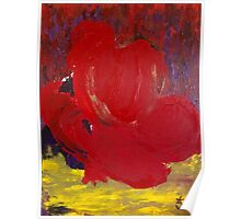 Abstract Red Rose in Nature Poster