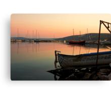 Old Fishing Harbor on Black Sea Canvas Print