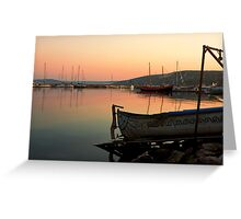 Old Fishing Harbor on Black Sea Greeting Card