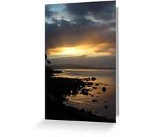 sunset  - Bruny Island   #9280 Greeting Card