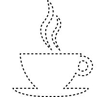 coffee cut out Photographic Print
