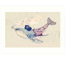 Pirate Whale Art Print