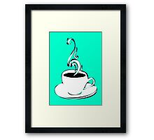 coffee curls Framed Print