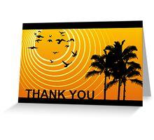 thank you sunscene Greeting Card